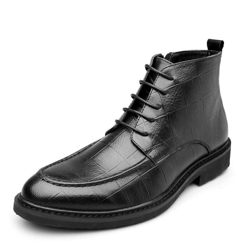 Frühling/Winter Pelz männer Chelsea Stiefel, neue stil, Mode Stiefel, Schwarz und braun Weichem Leder, casual Schuhe größe 38 43 eur auf   1