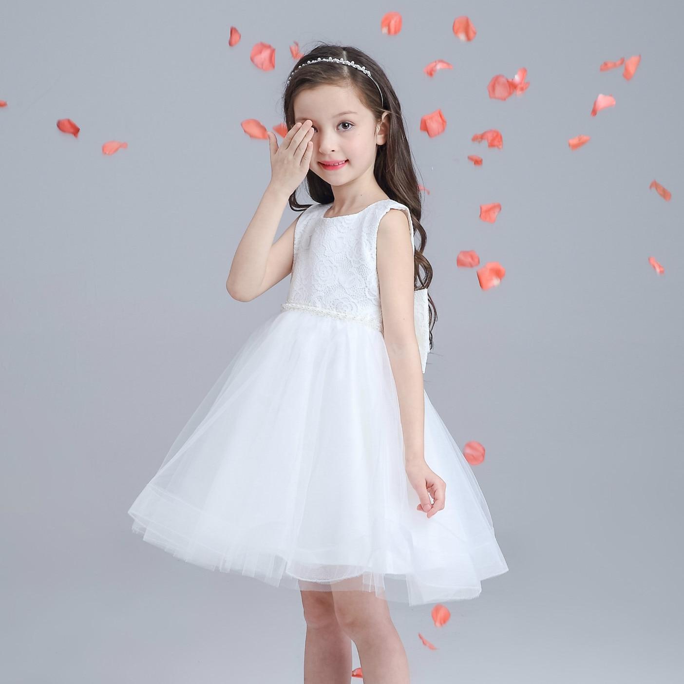 New Kids Baby G Wedding Dress White Flower Girl Vestidos Baptism ...