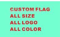 Personnalisé drapeau 90*150 cm tous les logo toutes les couleurs royal drapeau Avec Blanc Manches En Métal Gromets