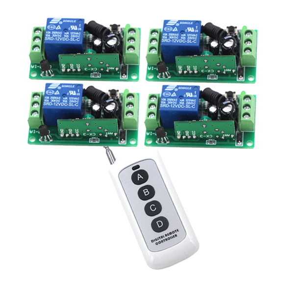 door access control system 24V DC 1CH Wireless Remote Switch 315/433.92Mhz rf remote control light switch Receiver & Transmitter dc 12v 1ch rf remote control access control system led light lamp wireless remote control on off switch 315m
