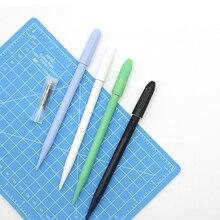 все цены на Metal 12 Blades Carving Knife Paper Cutter Craft Knife DIY Cutting Tools Utility Knife For Stationery Art Supplies онлайн