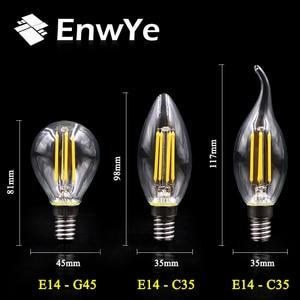 Image 5 - EnwYe Retro Luz de Edison bombilla 4W E27 E14 220V A60 G45 C35 Retro lámpara filamento de tungsteno incandescente bombilla Edison