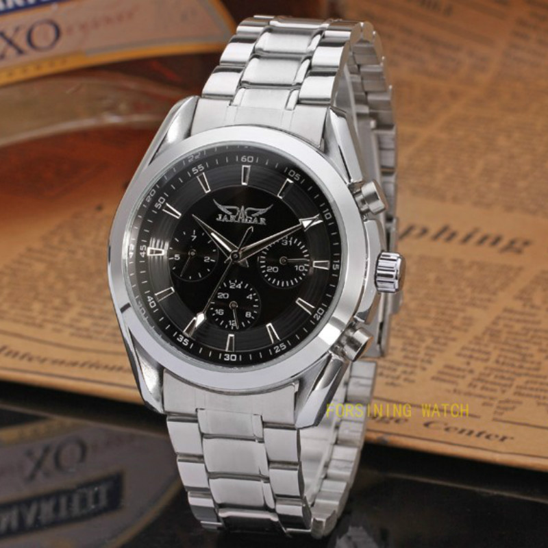 Jargar Automatic Men Watch Stainless Steel Band  with Gift Box jag6903m4t1 new popular jargar automatic men watch factory stainless steel band best price free shipping with gift box