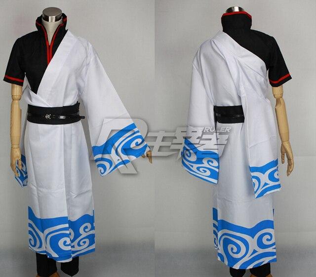 GINTAMA Silver Soul Cosplay Costume Sakata Gintoki Cosplay Kimono Anime