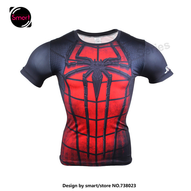 2017 mens superhero spiderman batman superman marvel t shirt men compression tee costume tshirt. Black Bedroom Furniture Sets. Home Design Ideas
