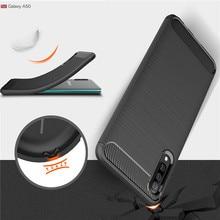 Для samsung Galaxy A50 чехол Heavy Duty из углеродного волокна Ударопрочный силиконовый чехол-накладка для A10 A20 A30 A40 A70 M10 M20 M30 Coque