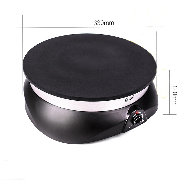 frying pan pancake maker electric crepe makers the non-stick coating black 1100W 2017 in the latest JB-33a high tech electric shell plastic moulded makers in china