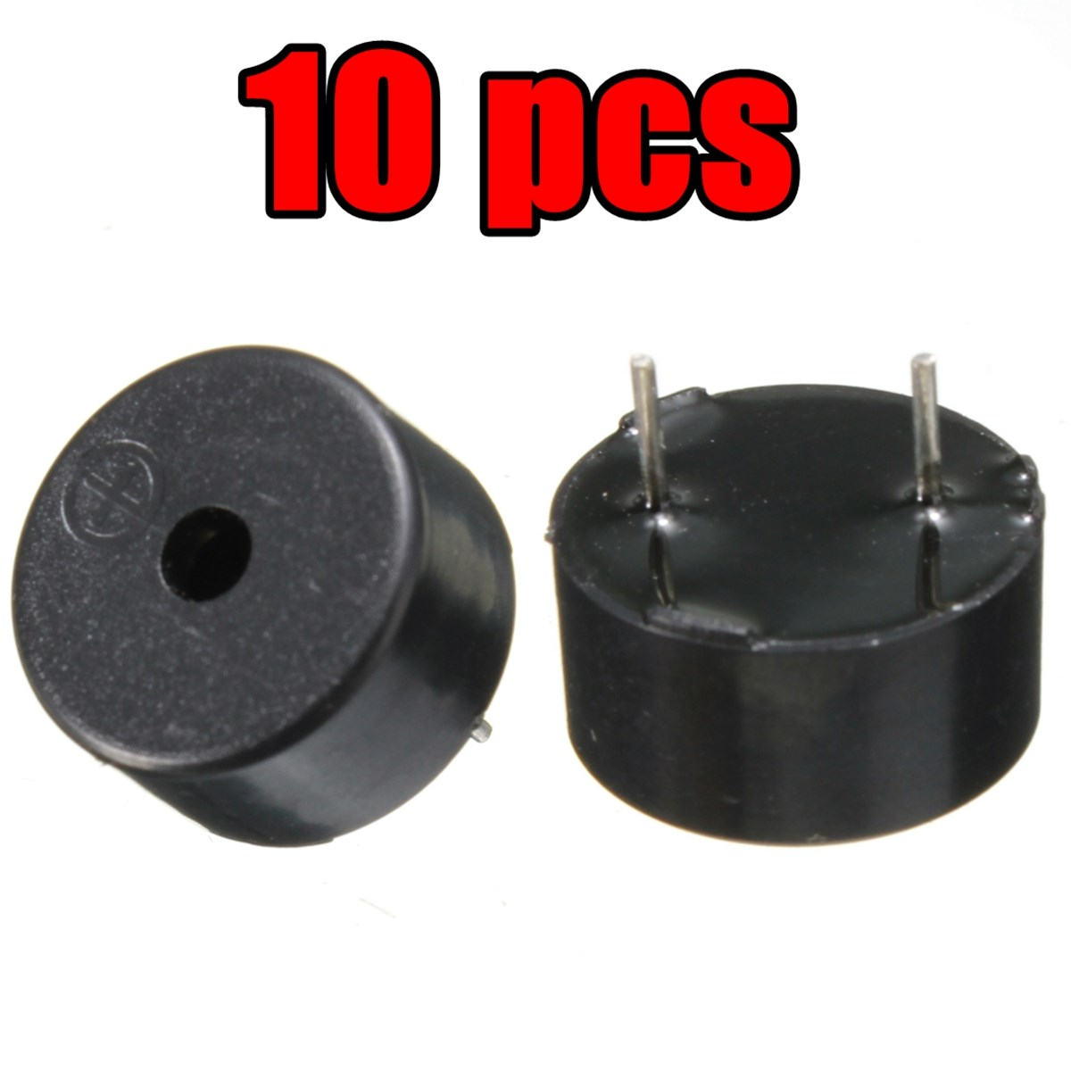 10PCs 2 Pin Passive Electronic Piezoelectric Piezo Buzzer AC 1-3V Black 14 x 7mm