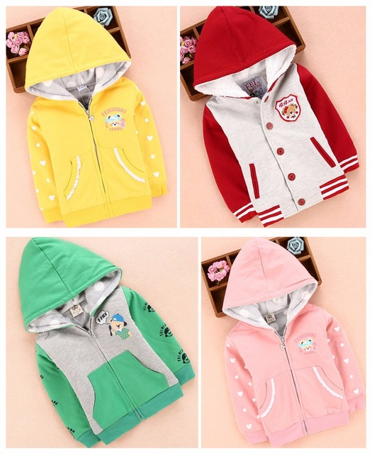 2016 Dongkuan Корейской версии полноценного мальчиков и девочек плюс толстый бархат случайные милый мультфильм дикого хлопка куртка детские куртки