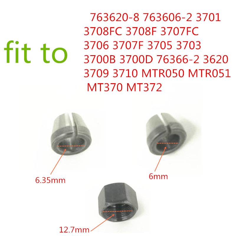 COLLET CONE NUT Replace For Makita 763620-8 763606-2 3701 3708FC 3708F 3707FC 3706 3707F 3705 3703 3700B 3700D Collet