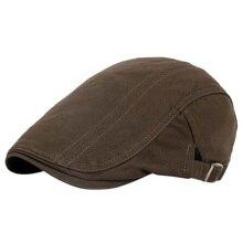 Nuevos hombres de Golf Caps Solid Vintage gorras de Golf panadero sombrero  enarbolado algodón de lino Retro al aire libre Golf B.. 45cb9c3bd0d