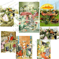 Old Ladies Full Drill Mosaic 5D Diy Embroidery Diamond Painting Resin 3D Cross Stitch Kits Cartoon