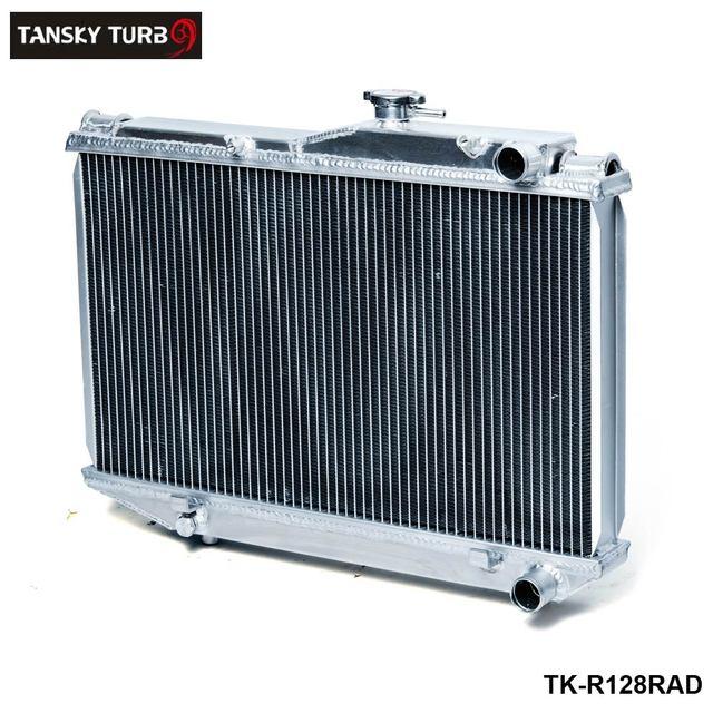 TANSKY-Para Toyota AE86 Corolla MT 83-87 Radiador De Alumínio de Alumínio 2 Row Dual Core TK-R128RAD