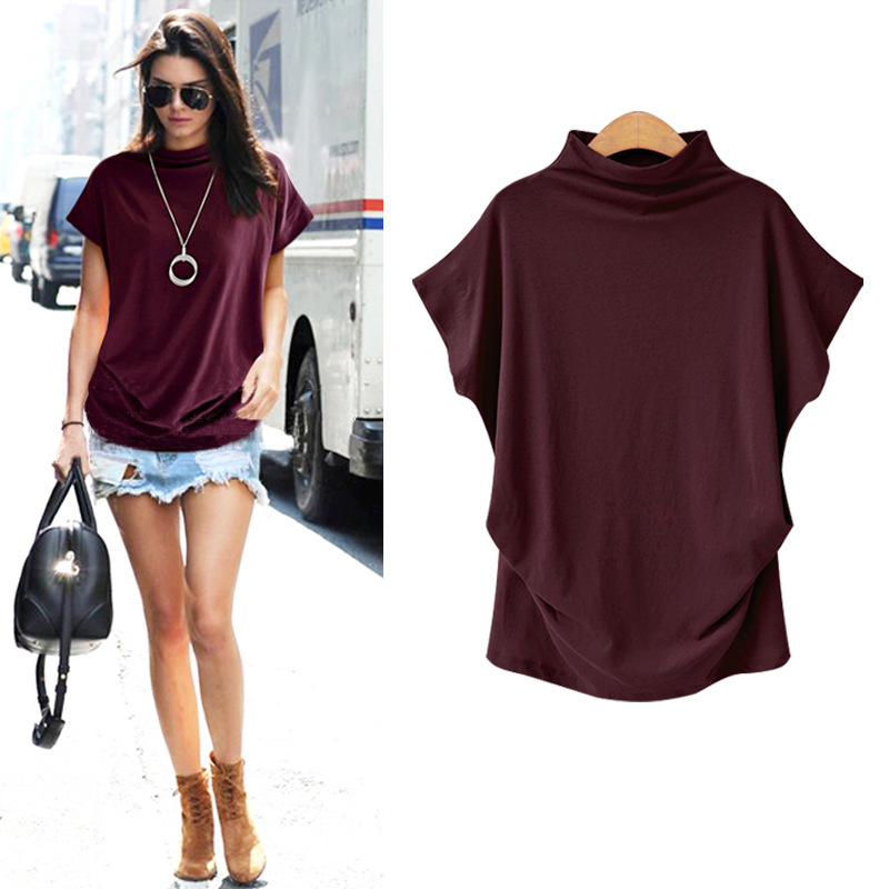 Women Tops Korean Style Fashion Womens Cotton Blouse Short Sleeve O-Neck Blouse Large Size S-7XL Female Blouse 2