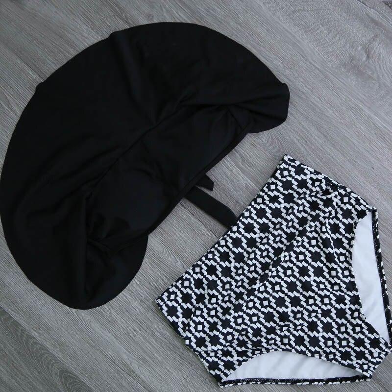HTB1LTwja1L2gK0jSZFmq6A7iXXap 2019 New Bikinis Women Swimsuit High Waist Bathing Suit Plus Size Swimwear Push Up Bikini Set Vintage Beach Wear Biquini
