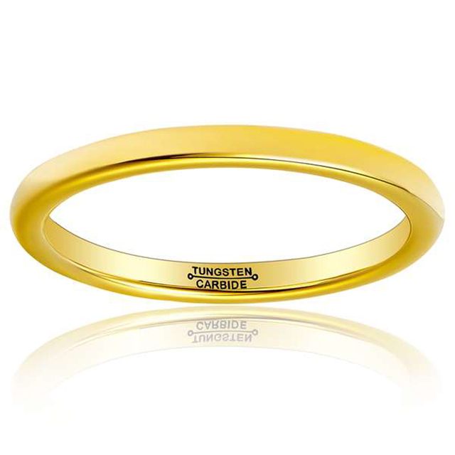 Woman's Tungsten Rings Gold Plating