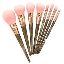 Pro 8pcs Makeup Brushes Set Cosmetic Face Foundation Powder Eyeshadow Blush Lip Make Up Brush Kit Maquiagem цена