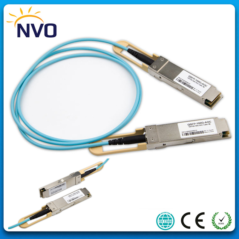 100G QSFP28 2M(6ft) OM3 AOC Active Optic Cable,QSFP28-100G-AOC-2M Compatible 100G QSFP28 Active Optical Cable