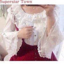 2016 MagicPotion Gothic LOLITA Blouse Shirt Dolores Haze Cosplay Kawaii Shirt Lo Peplum Tops White Lace
