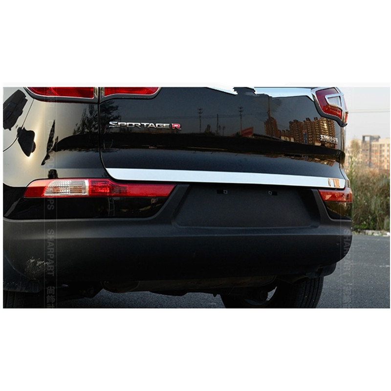 High quality stainless steel Rear Trunk Lid Cover Trim ix35 For 2011-2015 Kia Sportager