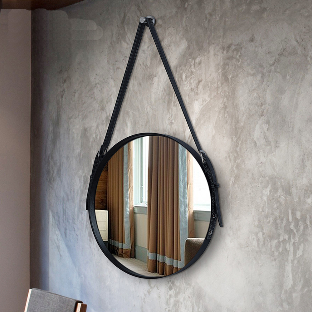 Belt bath mirror wall hanging decorative mirror hotel bathroom mirror restaurant wall art round hanging mirror