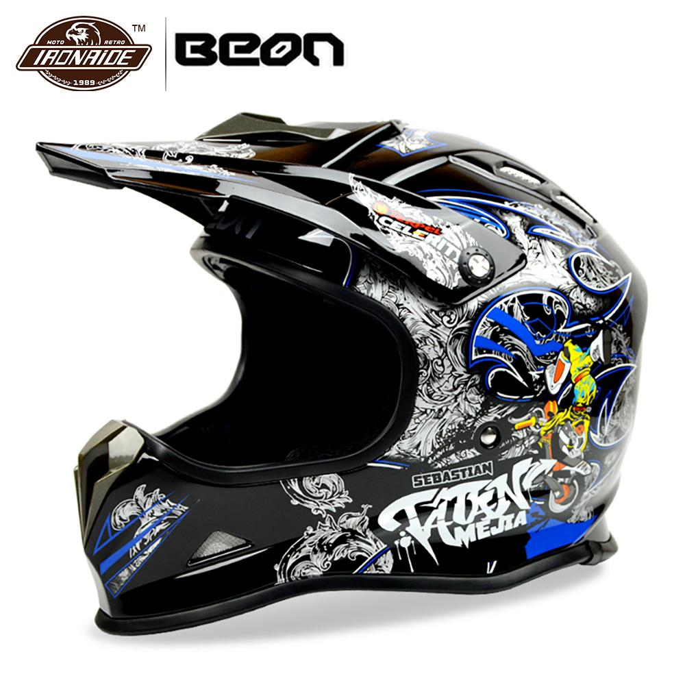 купить BEON Motocross Helmet Riding Biker Motorcycle Helmet Motorbike Off Road ATV Racing Dirt Bike Casco Moto Helmet онлайн