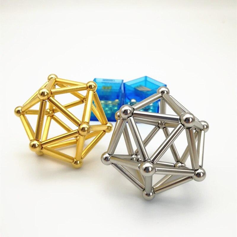 Neodymium Magnet 63pcs Bars &Metal Balls permanent strong magnets Construction Creative  ...
