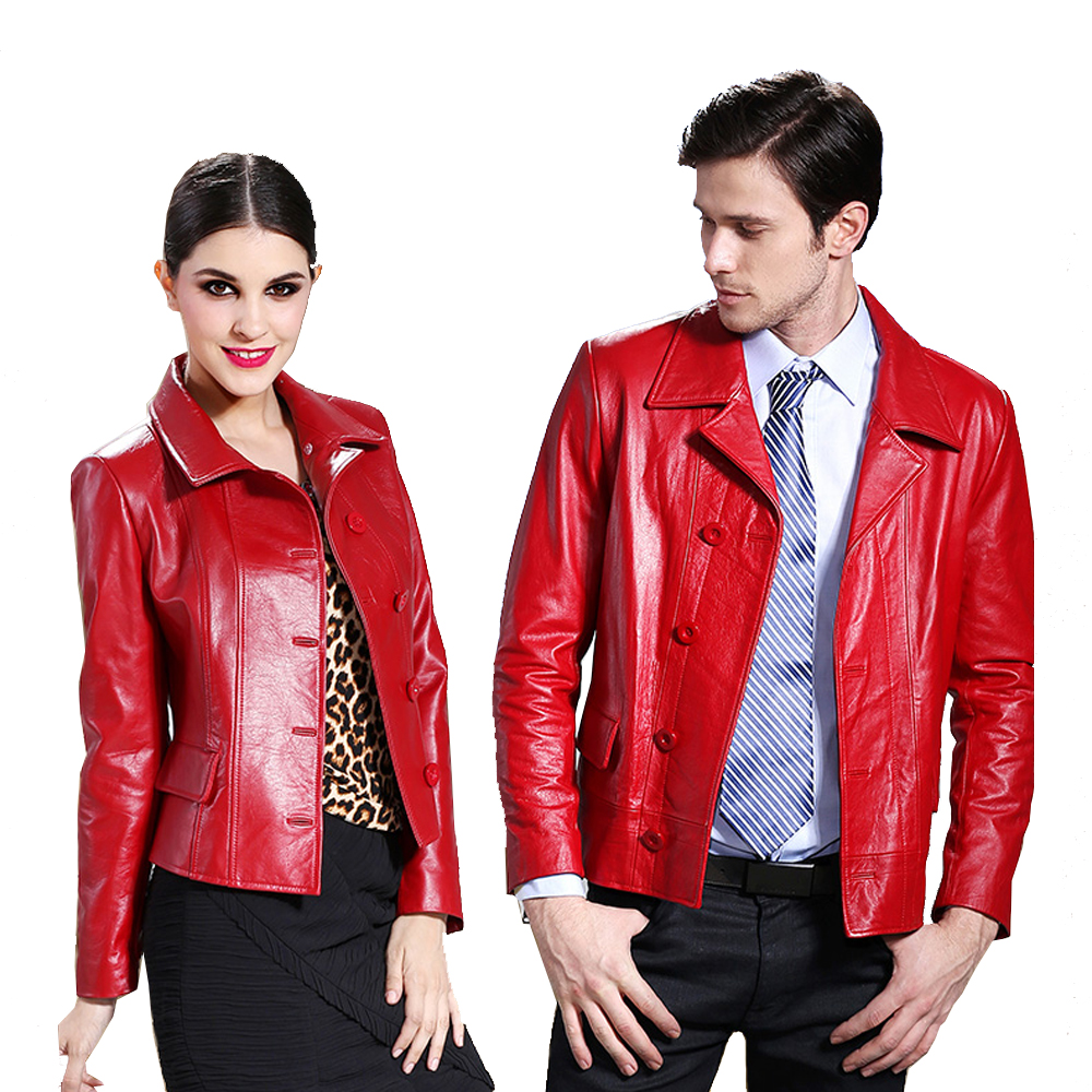 2018 Fashion Lovers Design Natural Genuine Leather Slim Calf Skin Suit Casual Jacket Short Women's Men's Clothing Coat Overcoat