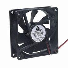 GDT 2PIN  ball bearing 8CM 80MM 80x80x25 fan 12v axial fan cooler original nidec u80r12mua 57 ultraflo 8010 80mm 8cm 80 80 10mm fan 12v 0 25a super silent fan with 2pin