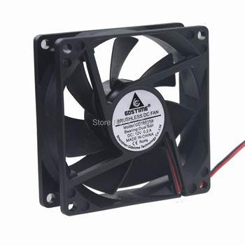 20Pcs Gdstime 2Pin DC 12V Ball Bearing 8CM 80MM 8025 80X80X25MM CPU Cooler Cooling Fan nmb 3110gl b4w b79 cooling fan dc12v 0 38a 80x80x25mm