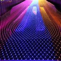 1MX10M 4.5MX1.5M fairy Garden string Led net lights christmas tree holiday park street party wedding decoration 220V Outdoor