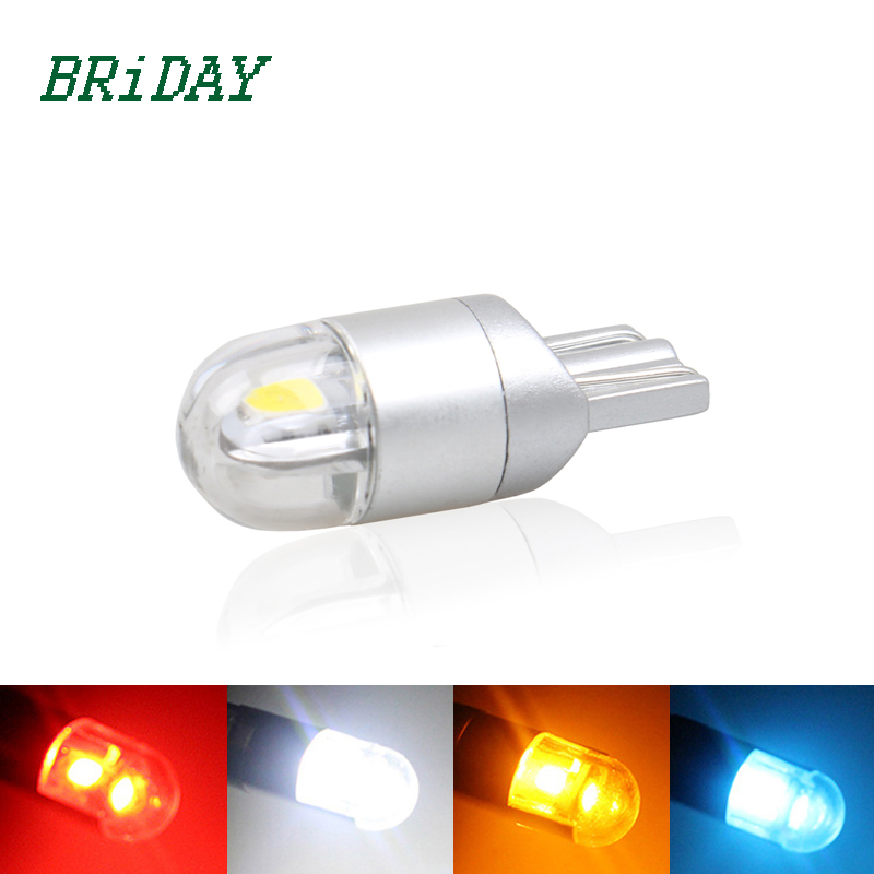 2x W5W LED T10 3030 Car lamps 168 194 Turn Signal License Plate Light Trunk Lamp Clearance Lights Reading lamp 12V White Red 4pcs super bright t10 w5w 194 168 2825 6 smd 3030 white led canbus error free bulbs for car license plate lights white 12v