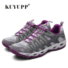 New 2017 Summer Unisex Aqua Shoes Air Mesh Clorts Outdoor Shoes Women Sneakers Lace Up Breathable Hiking Shoes Size 35-44 V1