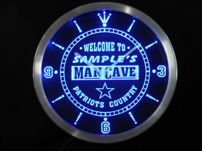 ncqf-tm Name Personalized Custom Man Cave Patriots Country Neon Sign LED Clock Wholesale Dropshipping
