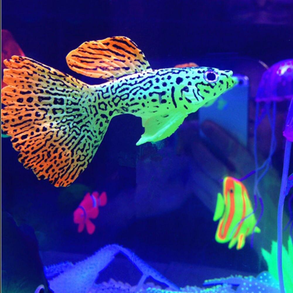 Fish aquarium buy online - Decoration Goldfish Aquarium Jellyfish Artificial Glow Effect Fish Tank Ornament China Mainland