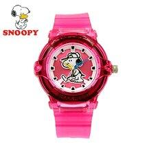 2017 Snoopy de Los Niños Ven Los Niños Ven Linda Fresca Relojes de pulsera de Cuarzo Deportes de Las Muchachas de Color Rosa Resistente Al Agua