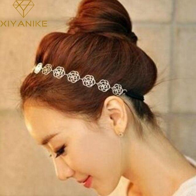 Corée du sud coiffe femelle creusent dehors roses cuisine avec une bande de cheveux XY-H80