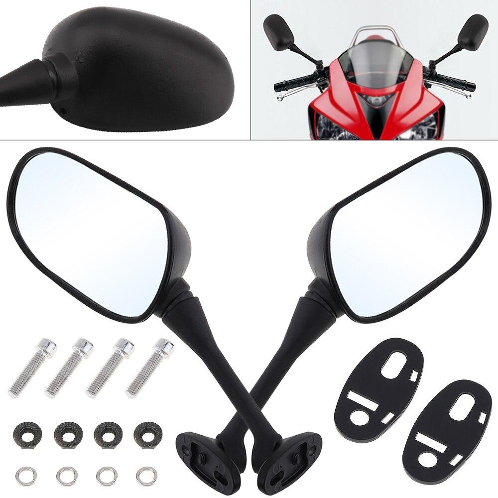2 pcs 10mm Universal Motocicleta Espelho Retrovisor Espelho Lateral Esquerda e Direita para HONDA CBR600 CBR600RR CBR1000 CBR1000RR
