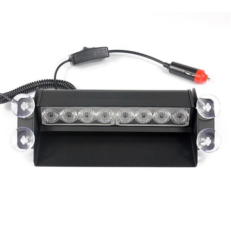 8 LED Car Strobe Flash Light LED Police Dash Emergency Warning lights 3 Flashing mode car Light Beacon DC12V
