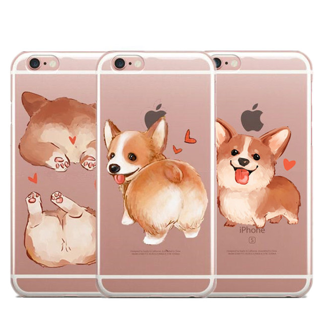 new style c1b1a f52ee US $1.82 39% OFF Super Cute Corgi Case For iPhone 7 8 Plus 5 5S SE 6 6SPlus  Sexy Cartoon Dog Ass Soft silicone TPU Phone Cover For iPhone X 5.8-in ...