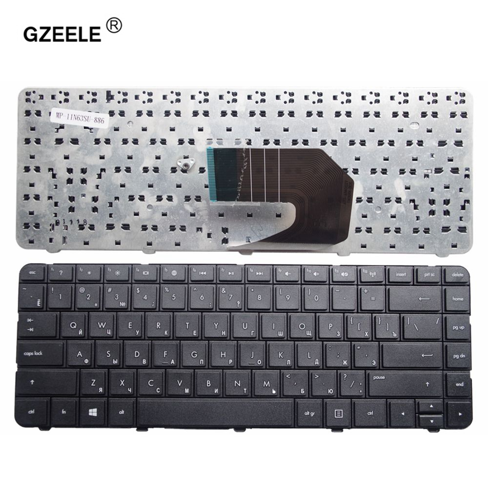 GZEELE NEW Russian Keyboard For HP Compaq Presario Cq43 Cq57 CQ58 Laptop Russian Keyboard Black RU Layout Black Replace NOTEBOOK