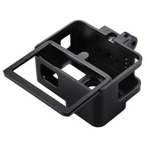 Image 4 - PULUZ для GoPro NEW HERO/HERO7 Black/6/5 корпус с ЧПУ Алюминиевый сплав Защитная клетка и страховая рамка