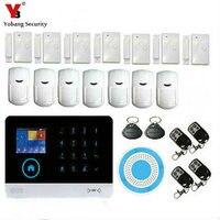 YoBang Security 3G WCDMA/CDMA WIFI Alarm System Security Home Intruder Alarm Wireless Outdoor Flash Alarm+PIR Motion Sensor.