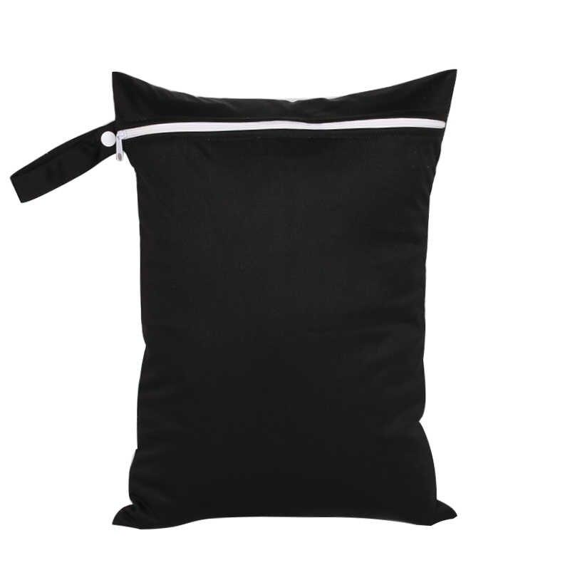 30*40cm wielokrotnego użytku torba na pieluchy wiaderko liniowej na tkaniny brudne pieluchy mokra sucha torba wodoodporna solidna Pul pielucha dla niemowląt torba na pieluchy
