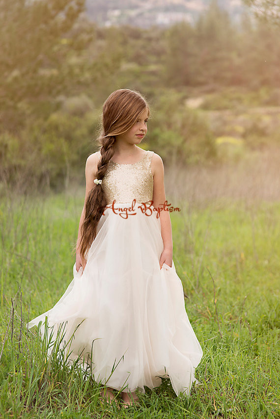 2016 Bling Sequin Flower Girl Dresses for Kid Evening Ball Gowns  the first communion dresses for girls вечернее платье backless evening dresses sequin elie saab z2013122702