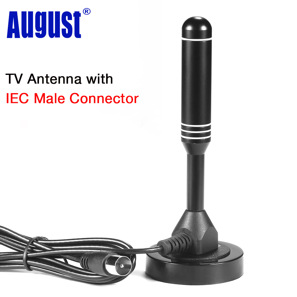 August DTA235 High Gain <font><b>TV</b></font> Antenne für DVB-T Fernsehen/USB <font><b>TV</b></font> Tuner Portable Indoor/Outdoor Dvb-t HD <font><b>Digital</b></font> <font><b>TV</b></font> Antennen image