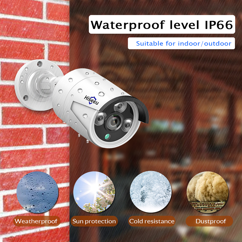 Image 2 - 4CH 1080P POE NVR kit CCTV system with 2pcs 1080P IP Camera Outdoor Waterproof home Security video Surveillance system Hiseeu-in Surveillance System from Security & Protection