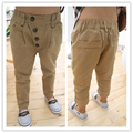 boy harem pants 2016 autumn khaki kids harem pants retro 4 buttons boys casual pant harem trousers spring 2016 new boys clothing