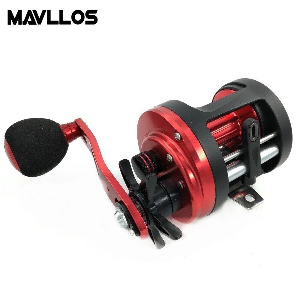 Mavllos Snakehead Fishing Reel Max Drag 6kg Metal Round Baitcasting Reel Left Right Handle Single EVA Knob Lure Bait Cast Reel