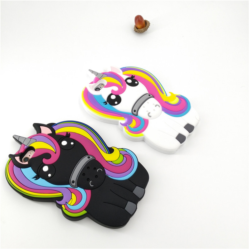 HTB1LTyrPFXXXXXWaXXXq6xXFXXXN - FREE SHIPPING For iPhone 7 7Plus 6 6s Plus 5 5s 3D Rainbow Unicorn Case Horse Cute Cartoon Silicone Rubber Soft Cell Phone Cover Shell